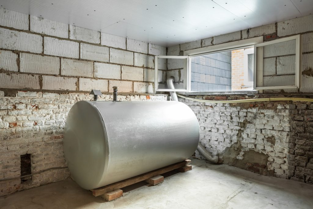 Heating Oil Tank | ← Basement Tanks